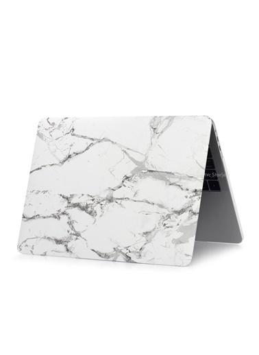 "Mcstorey MacBook Retina A1502 A1425 13"" 13.3"" Kılıf Sert Kapak Koruma Hard Incase Mermer Renksiz"